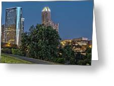 Houston Cityscape2 Greeting Card