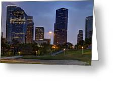 Houston Nighttime Skyline Greeting Card