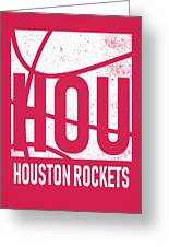 Houston Rockets City Poster Art Greeting Card