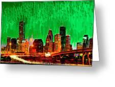 Houston Skyline 112 - Pa Greeting Card
