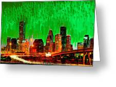 Houston Skyline 115 - Pa Greeting Card