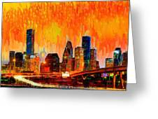 Houston Skyline 119 - Pa Greeting Card
