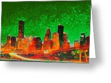 Houston Skyline 133 - Pa Greeting Card