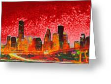 Houston Skyline 134 - Pa Greeting Card