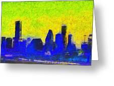 Houston Skyline 42 - Pa Greeting Card