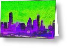 Houston Skyline 43 - Pa Greeting Card