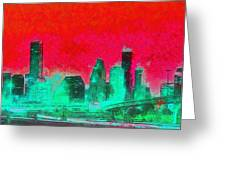 Houston Skyline 47 - Pa Greeting Card