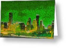 Houston Skyline 49 - Pa Greeting Card