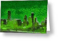 Houston Skyline 51 - Pa Greeting Card