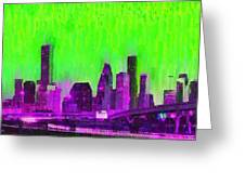 Houston Skyline 85 - Pa Greeting Card