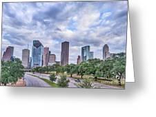 Houston Skyline View Greeting Card