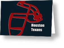 Houston Texans Retro Greeting Card