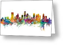 Houston Texas Skyline Panoramic Greeting Card