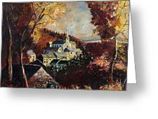 Houyet Village Belgium Greeting Card