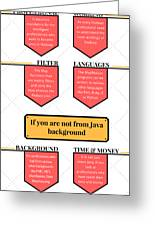 How Much Java Knowledge Is Required To Learn Hadoop? Greeting Card