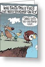 How Reindeer Fly Greeting Card