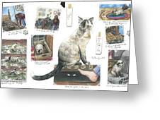 How To Live With A Cat Greeting Card