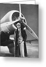 Howard Hughes, Us Aviation Pioneer Greeting Card