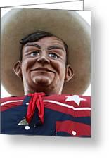 Howdy Folks - Big Tex Portrait 02 Greeting Card