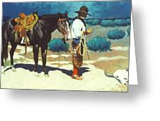 Howdy Ole Friend Greeting Card