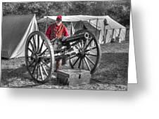 Howitzer Battle Of Honey Springs V5 Greeting Card