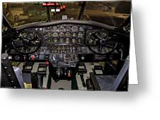 Hu-16b Albatross Cockpit Greeting Card
