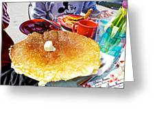 Hub Cap Pancakes At Loulou's On The Commercial Pier In Monterey-california  Greeting Card