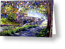 Huband Bridge Dublin City Greeting Card
