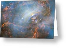 Hubble Captures The Beating Heart Of The Crab Nebula Greeting Card