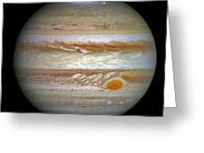 Hubble Captures Vivid Auroras In Jupiter's Atmosphere Greeting Card