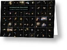 Hubble Galaxy Poster Greeting Card