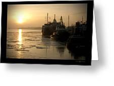Huddled Boats Greeting Card