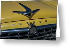 Hudson Hood Ornament And Logo Greeting Card