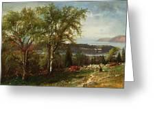 Hudson River At Croton Point Greeting Card