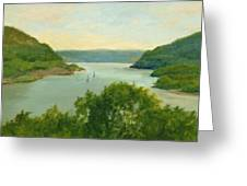 Hudson River From Bear Mt. Greeting Card