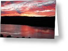 Hudson River Sunrise Greeting Card