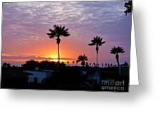 Hued Sunset  Greeting Card