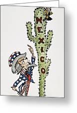 Huerta: Cartoon, C1914 Greeting Card