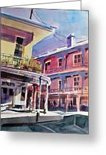Hues Of The French Quarter Greeting Card