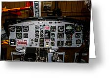 Huey Instrument Panel Greeting Card
