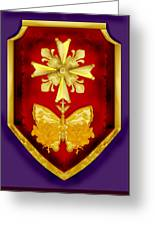 Huguenot Cross And Shield Greeting Card by Anne Norskog