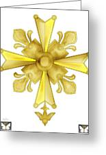 Huguenot Golden Cross Greeting Card