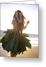 Hula At Sunrise Greeting Card