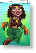 Hula Dancer Greeting Card