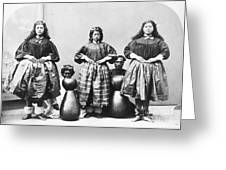 Hula Dancers, C1875 Greeting Card