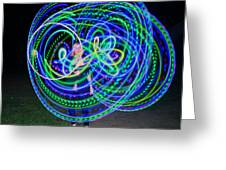 Hula Hoop In Light Greeting Card