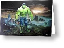 Hulk. Original Acrylic Greeting Card