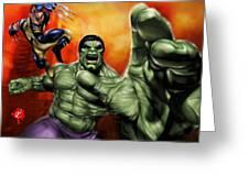 Hulk Greeting Card