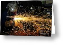 Hull Maintenance Technician Welds Scrap Greeting Card