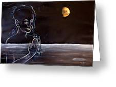 Human Spirit Moonscape Greeting Card by Susan Moore